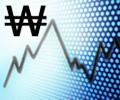 won_currency_symbol_index_blue_background