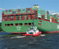 CSCL_Venus_on_the_Elbe_river_basin