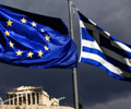 EU_flag_Greek_flag_stormy