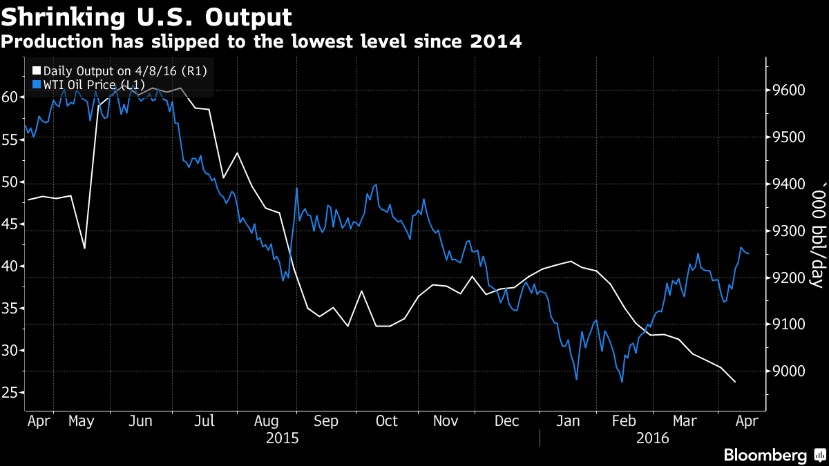 Crude oil prices take it on the chin