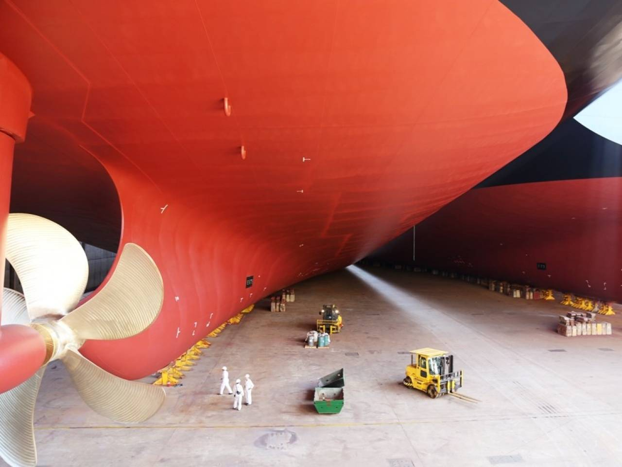 In Samho in South Korea five new ships are being built for Hapag-Lloyd.