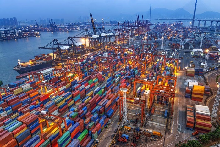 34924773 - industrial port with containers