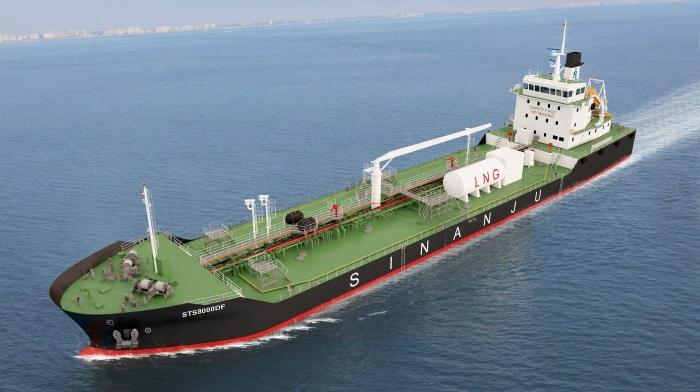 Sinanju pioneers introduction of dual-fuel engine bunker tankers in
