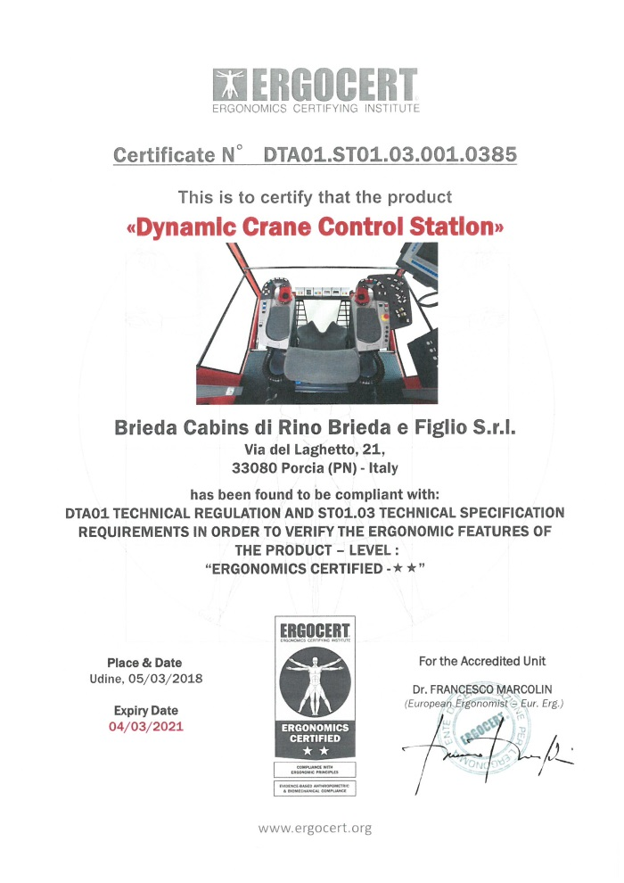 Brieda Cabins Achieves World First Certification To Iso Ergonomic
