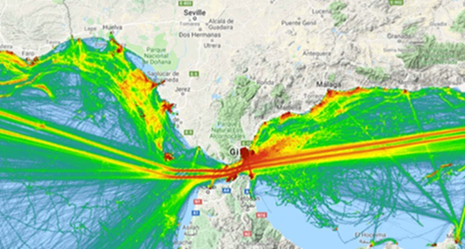 Ship Traffic Map.New Insights Into European Maritime Traffic With The Emodnet Vessel
