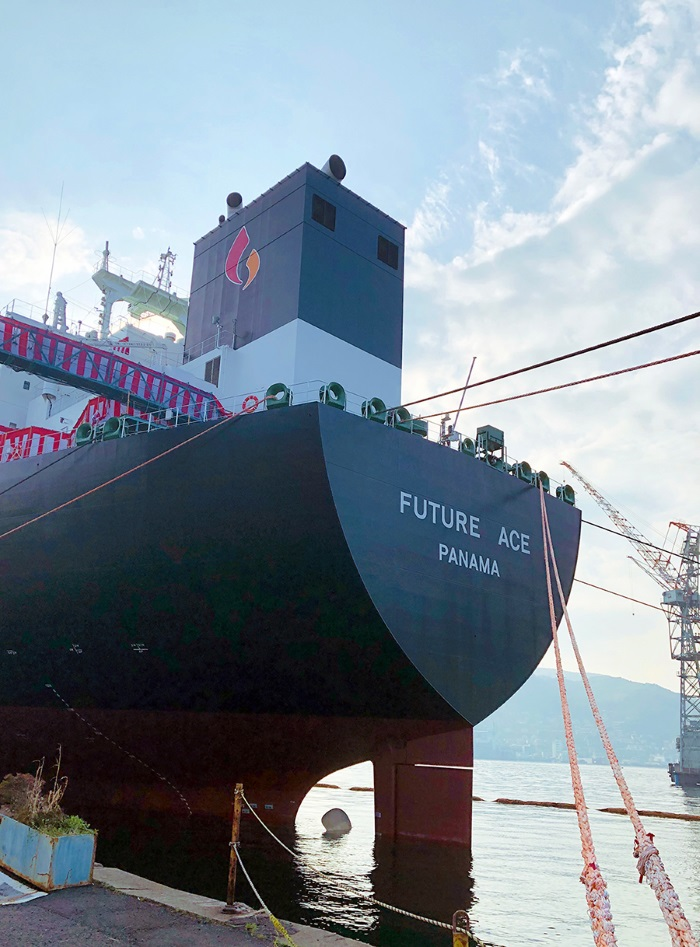 Mitsubishi Shipbuilding Holds Christening Ceremony for LPG Carrier