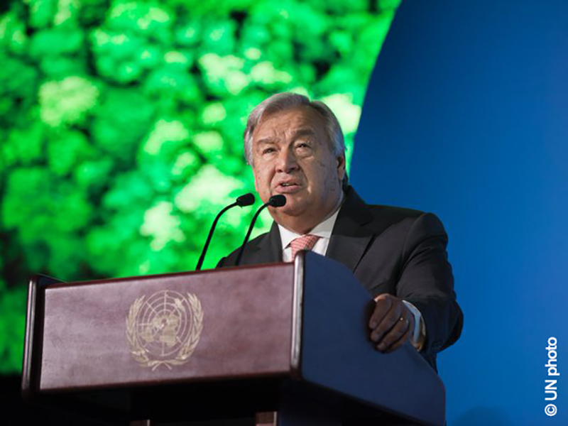 Action on Climate Needed Before Time Runs Out: Antonio Guterres