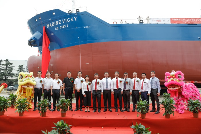 Singapore's first LNG-powered Bunker Tanker Christened by